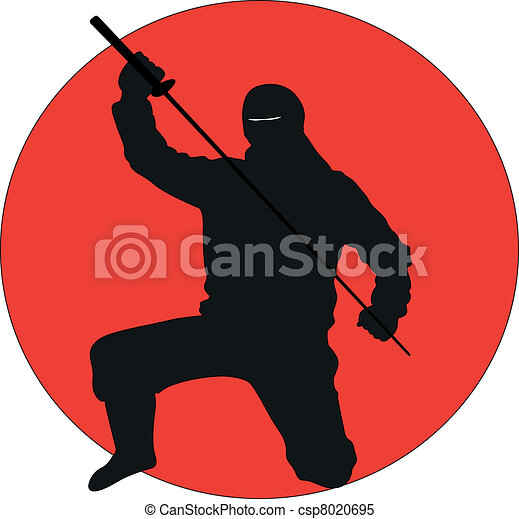 Silueta ninja - csp8020695