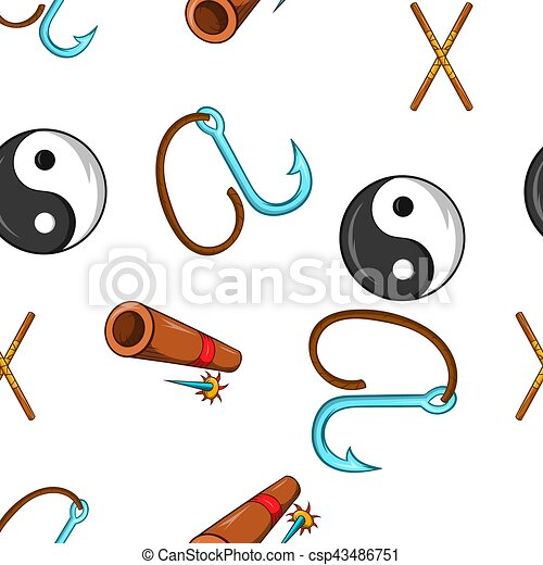 Ninja style dessin anim mod le toile mod le pattern illustration ninja dessin anim - Dessin anime ninja ...
