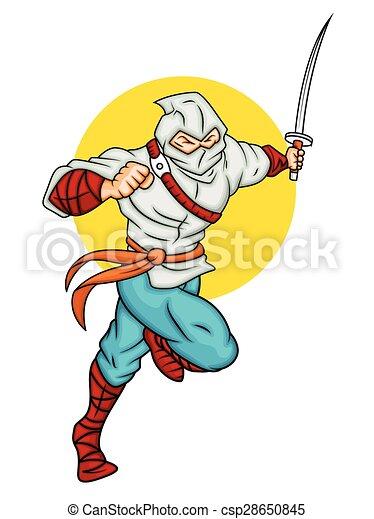Ilustración de vectores ninja - csp28650845