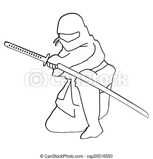 ninja, vector - csp20516550