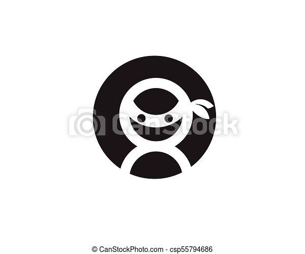 ninja, vector, illustratie, pictogram - csp55794686