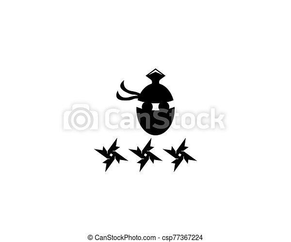 ninja, vector, ilustración, icono - csp77367224