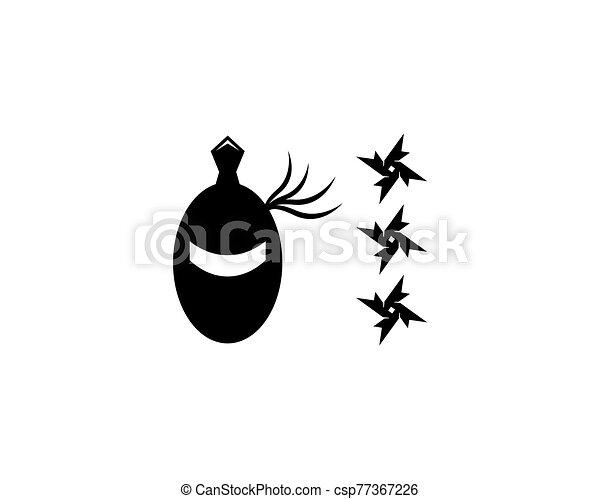 ninja, vector, ilustración, icono - csp77367226