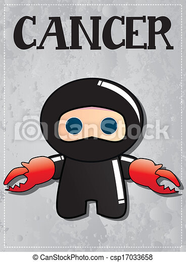 Zodiaco signo ninja cáncer - csp17033658