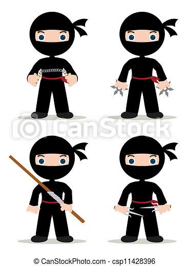 ninjas, ensemble - csp11428396
