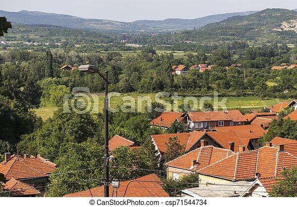 Vista panorámica del spa Resort de Niska, Serbia - csp71544734