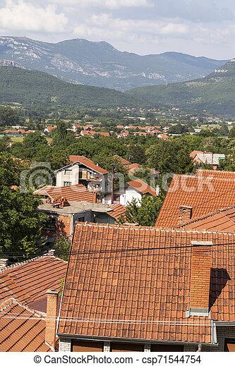Vista panorámica del spa Resort de Niska, Serbia - csp71544754