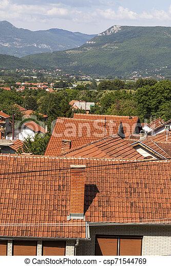 Vista panorámica del spa Resort de Niska, Serbia - csp71544769