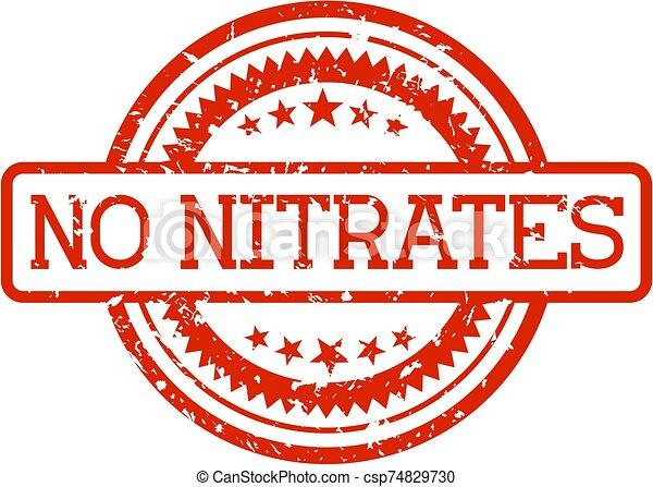 nitrates, nee, rubberstempel - csp74829730