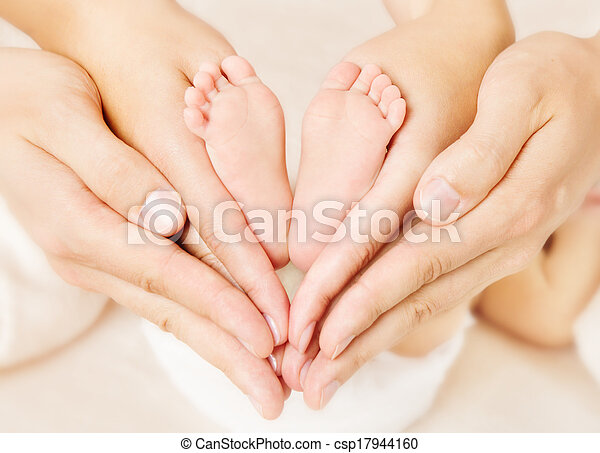 nitro, láska, novorozeně, firma, kráčet, rodiče, děťátko, simbol, hands. - csp17944160
