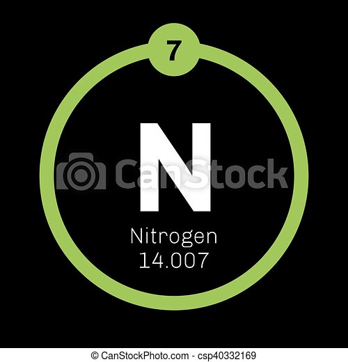 Nitrogen Chemical Element Common Element In The Universe Colored