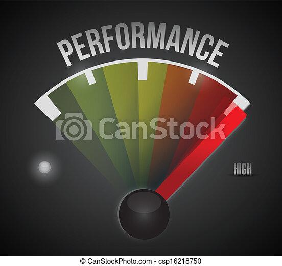 niveau, mètre, élevé, bas, mesure, performance - csp16218750
