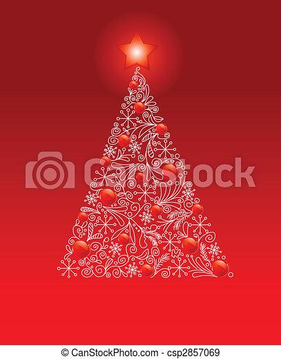 noël, décoré, arbre - csp2857069
