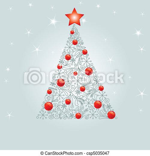 noël, décoré, arbre - csp5035047