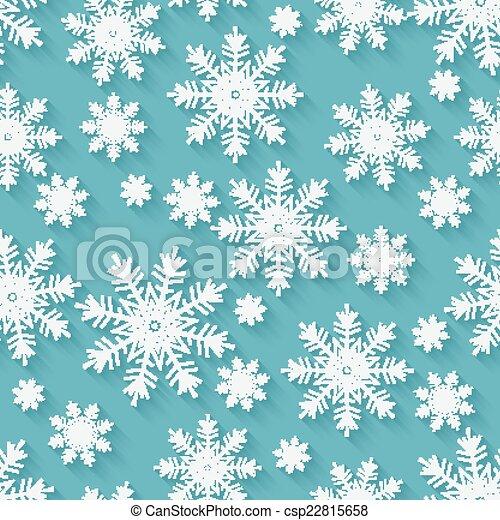 noël, fond, flocons neige - csp22815658
