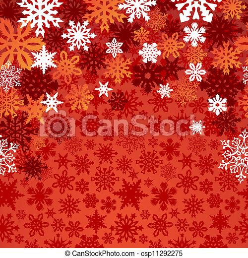 noël, fond, flocons neige - csp11292275