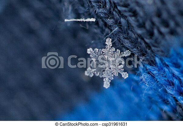 noël, fond, flocons neige - csp31961631