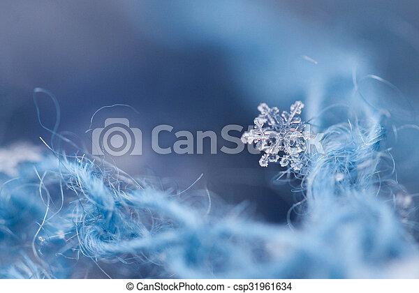 noël, fond, flocons neige - csp31961634