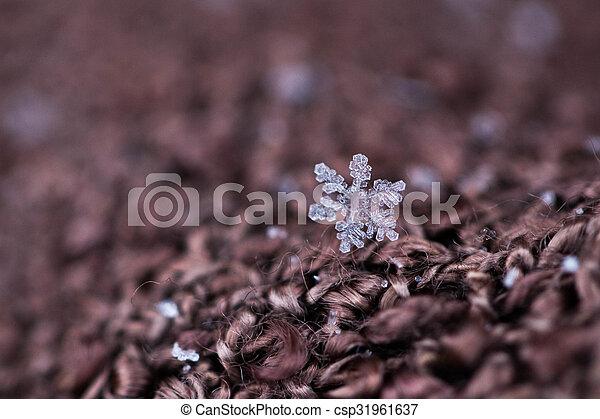 noël, fond, flocons neige - csp31961637