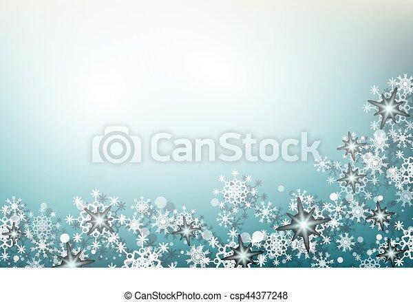 noël, fond, flocons neige - csp44377248