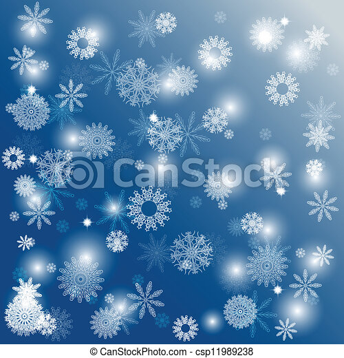 noël, fond, flocons neige - csp11989238