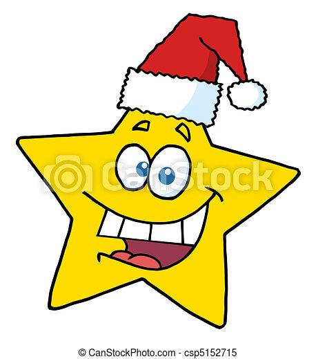 noël heureux, sourire, étoile - csp5152715