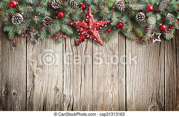 noël, sapin, décoré, arbre - csp31313163