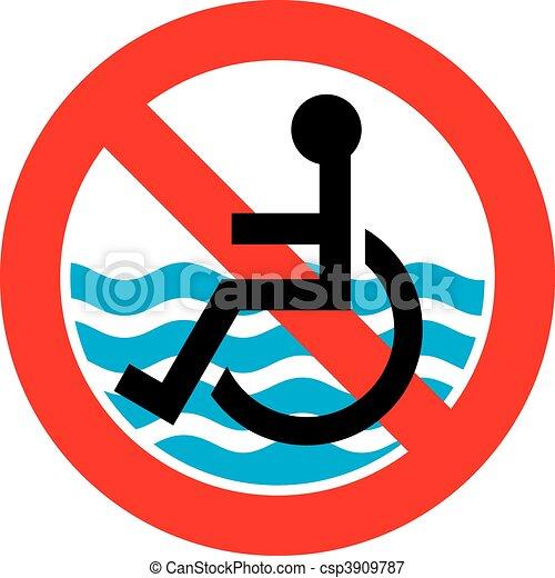No access beach - csp3909787