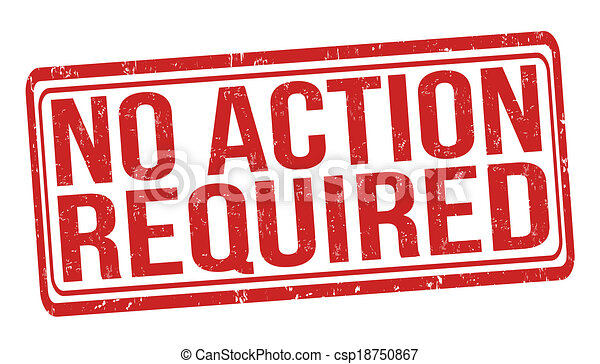 No action required stamp - csp18750867