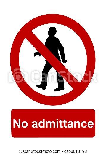 No admittance - csp0013193