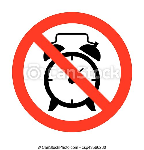 no alarm clock sign vector search clip art illustration rh canstockphoto com alarm clock clipart black and white clipart alarm clock ringing