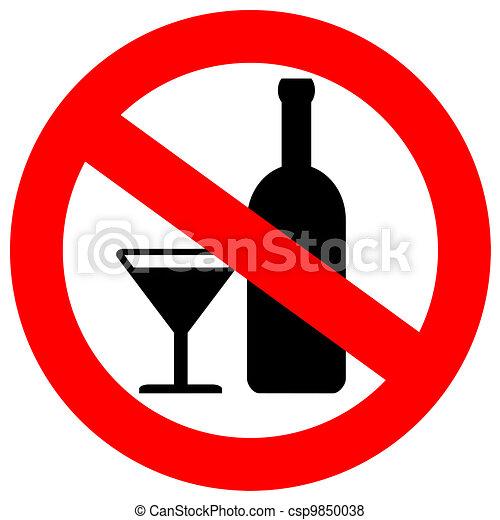 no, alcohol, señal - csp9850038