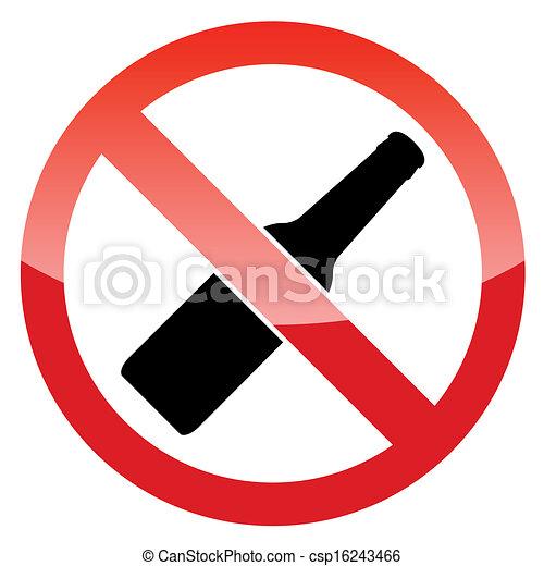 No Alcohol Sign Clipart