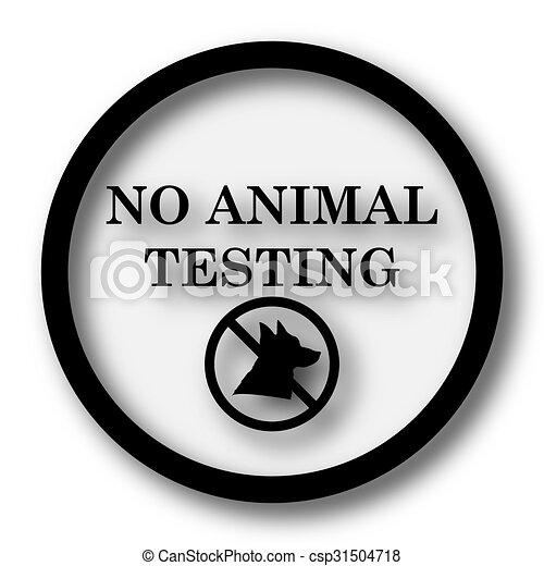 No Animal Testing Icon Internet Button On White Background