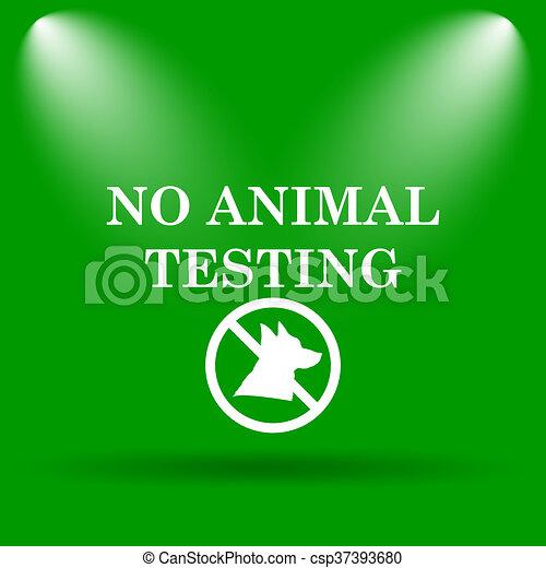 No Animal Testing Icon Internet Button On Green Background