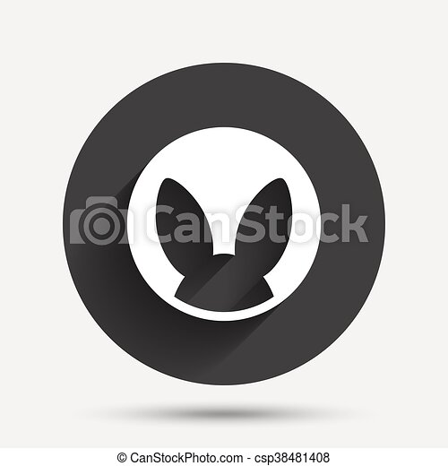 No Animals Testing Sign Icon Not Tested Symbol Circle Flat Button