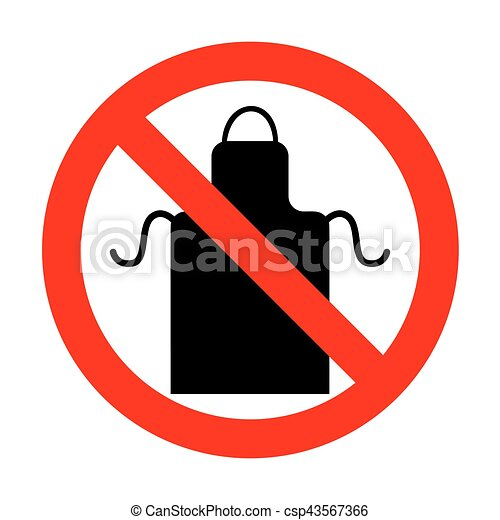 no apron simple sign clip art vector search drawings and graphics rh canstockphoto ca
