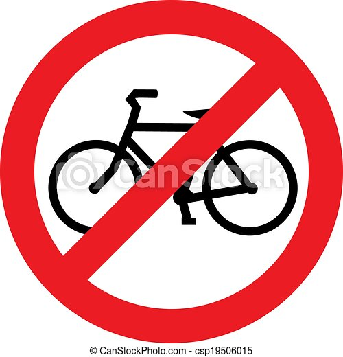 No bicycle sign - csp19506015