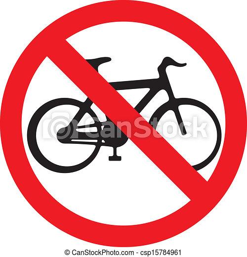 no bicycle sign (no bikes symbol) - csp15784961