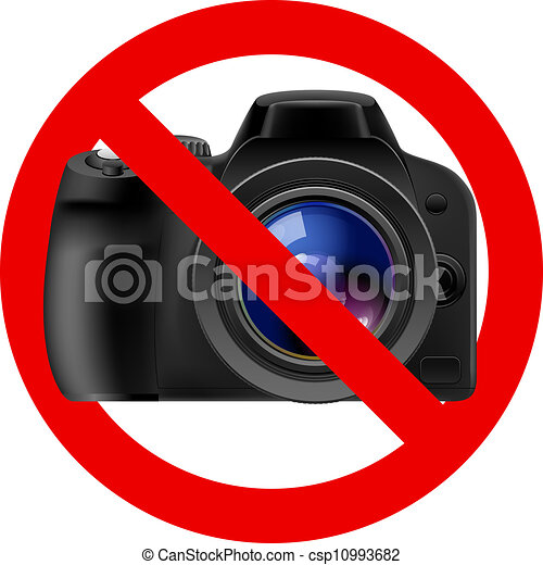 No camera allowed sign. Illustration on white background vector ...
