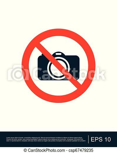 No Photography. No Camera Vector Sign Icon. Royalty Free Cliparts, Vectors,  And Stock Illustration. Image 137138682.