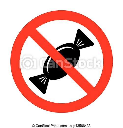No candy sign illustration.