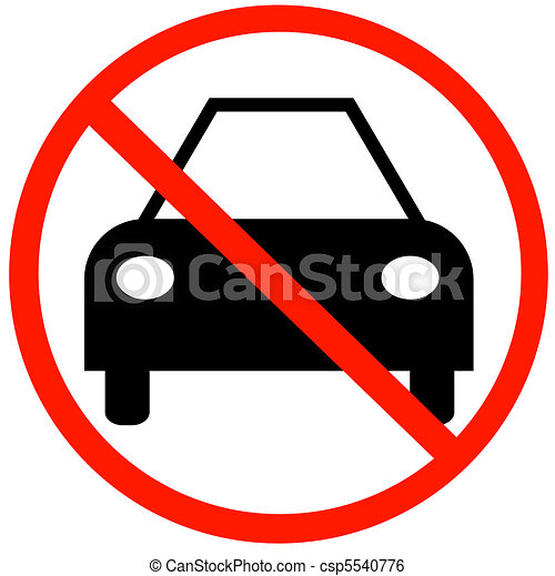 Car With Not Allowed Symbol No Cars Allowed Stock Illustration