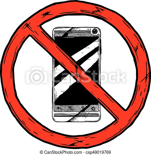 no cell phone sign csp49019769