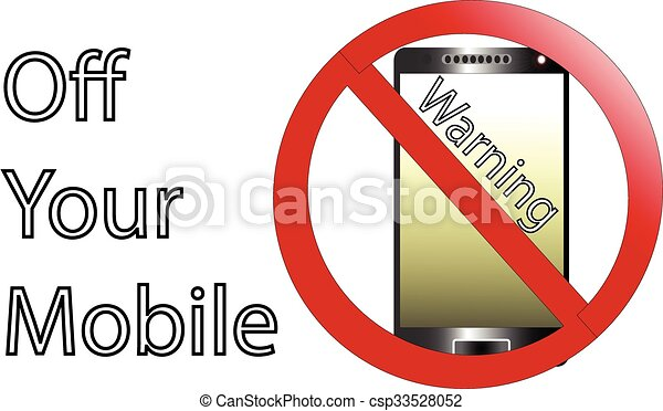 No cell phone sign - csp33528052