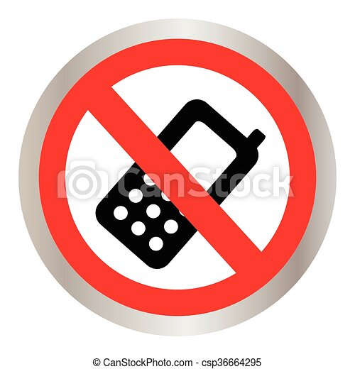 No cell phone sign - csp36664295