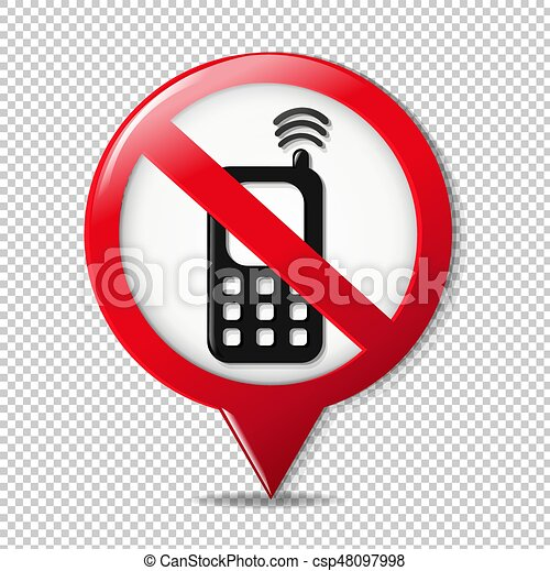 No Cell Phone Sign - csp48097998