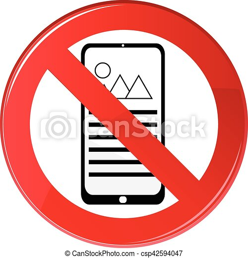 No Cell Phone Sign - csp42594047