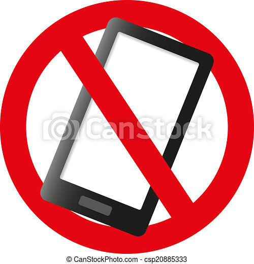 No cell phone sign - csp20885333