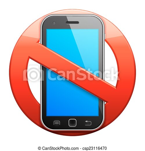 No cell phone sign. - csp23116470